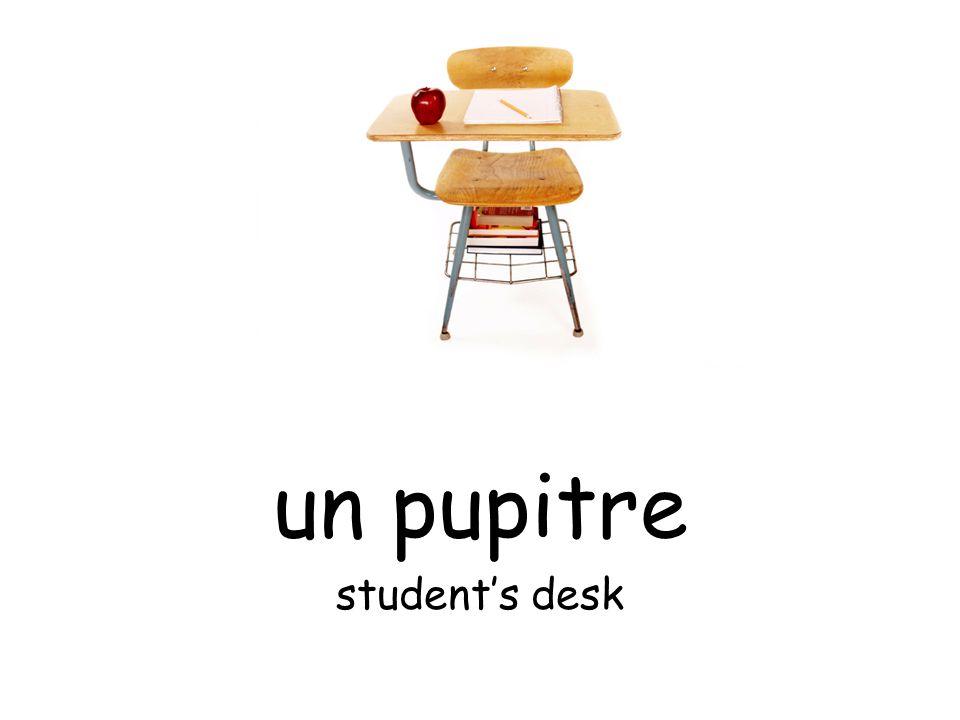un pupitre student's desk