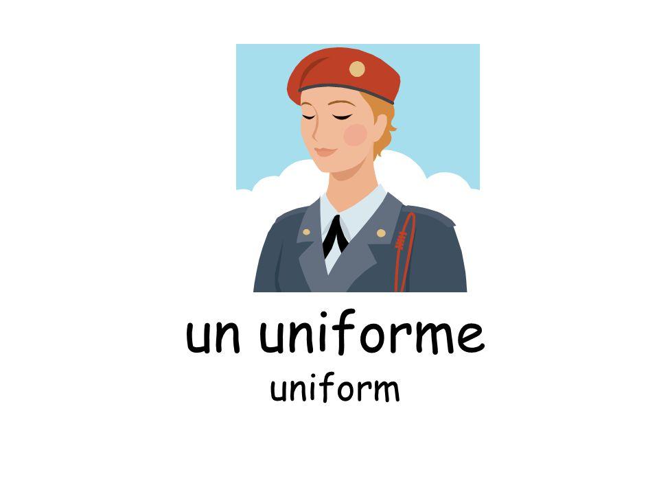 un uniforme uniform