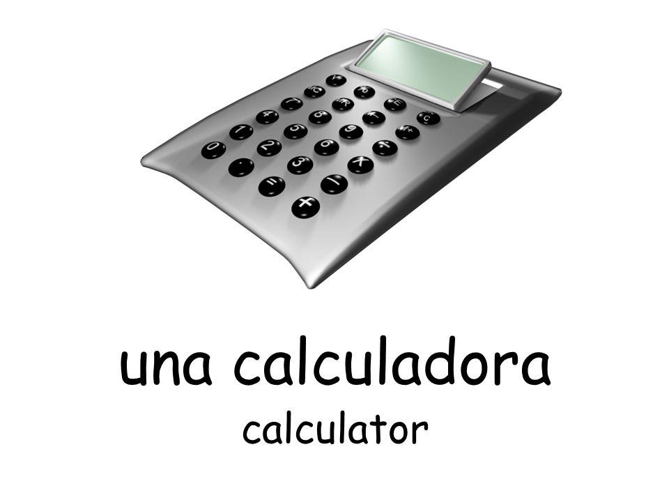 una calculadora calculator
