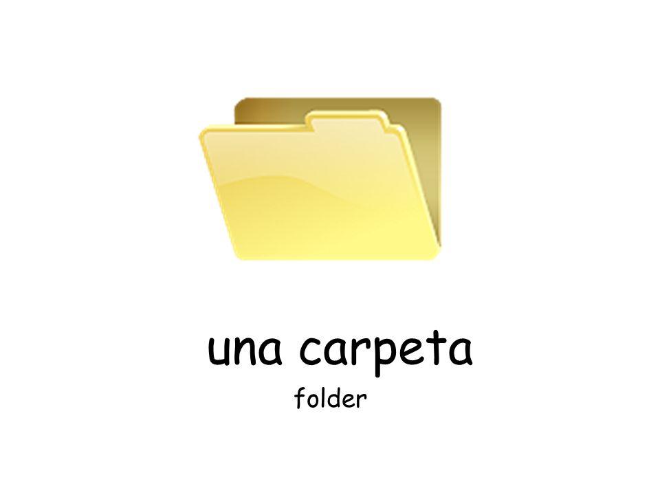 una carpeta folder