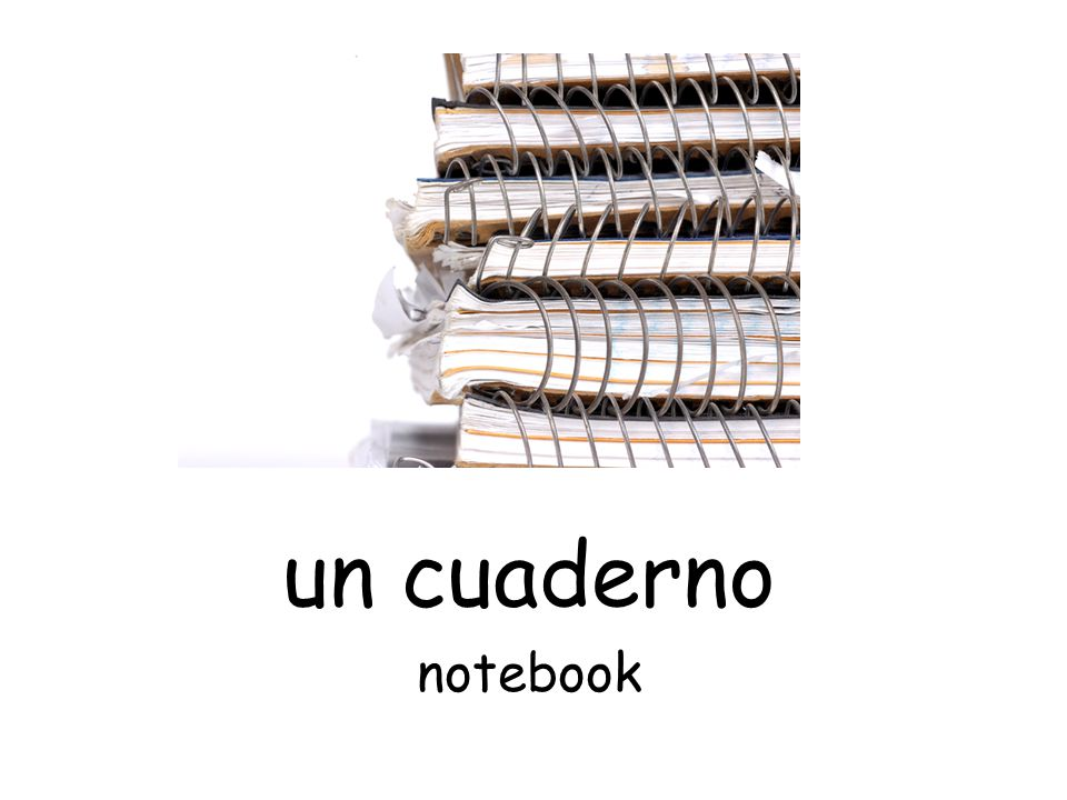 un cuaderno notebook