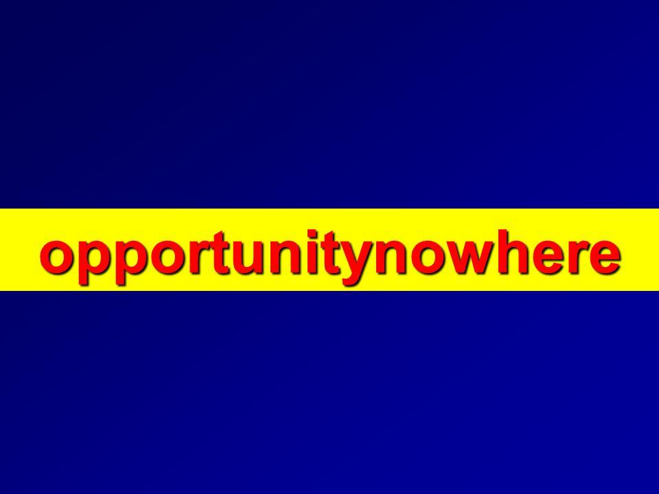 opportunitynowhere