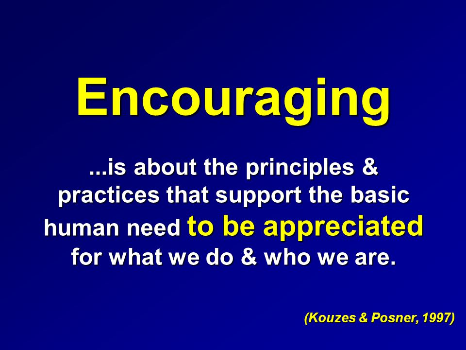 Exemplary Clinical Leaders Encourage