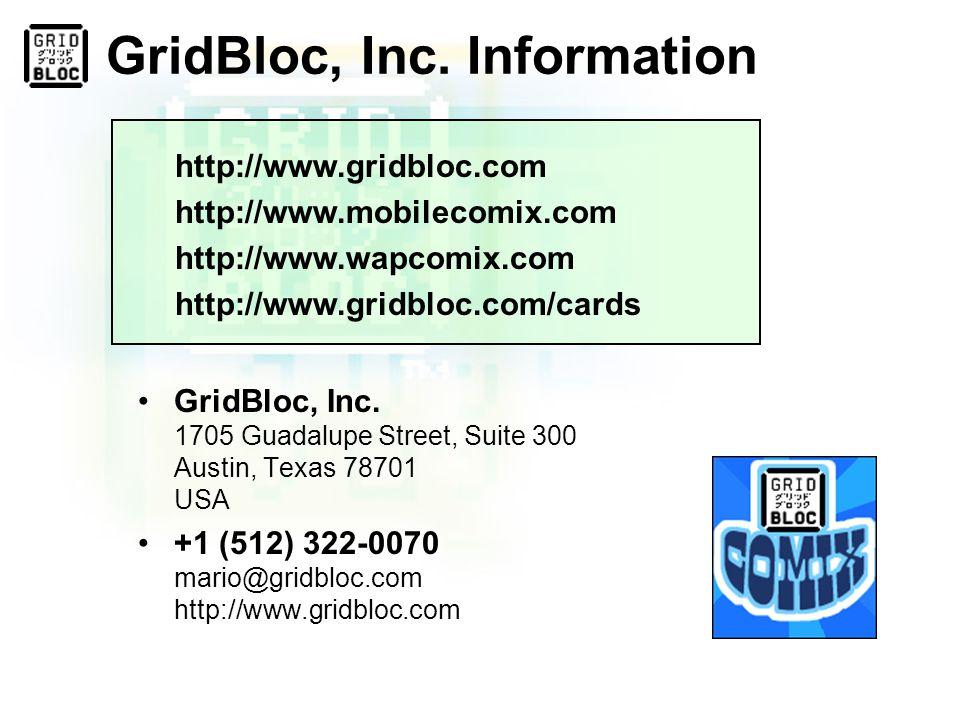 GridBloc, Inc. Information GridBloc, Inc.