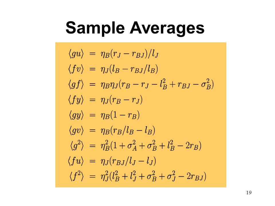 19 Sample Averages