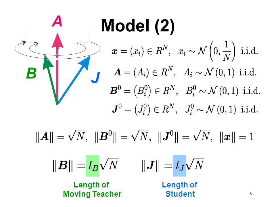 9 Model (2) Length of Student Length of Moving Teacher A B J