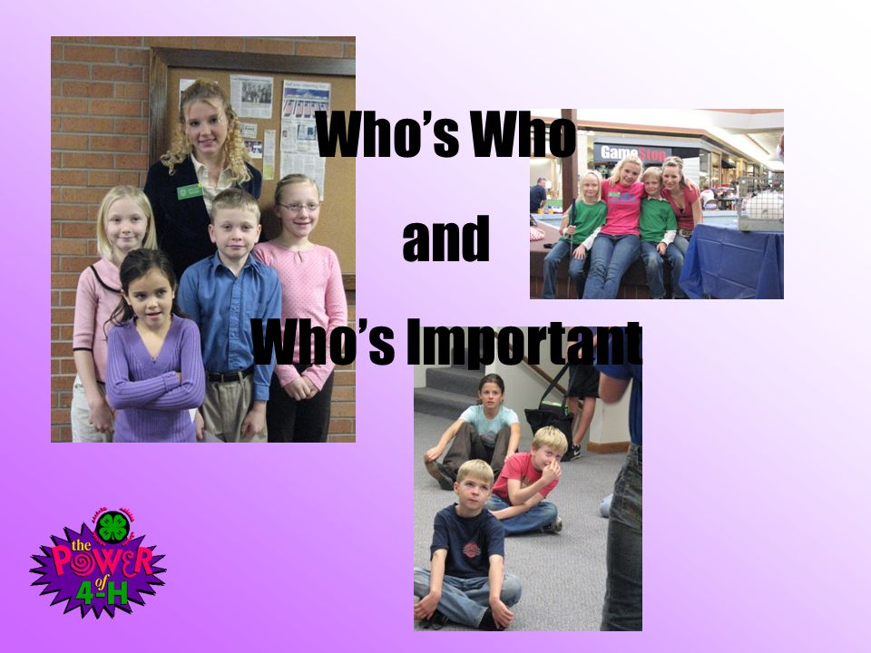 Who's Who and Who's Important