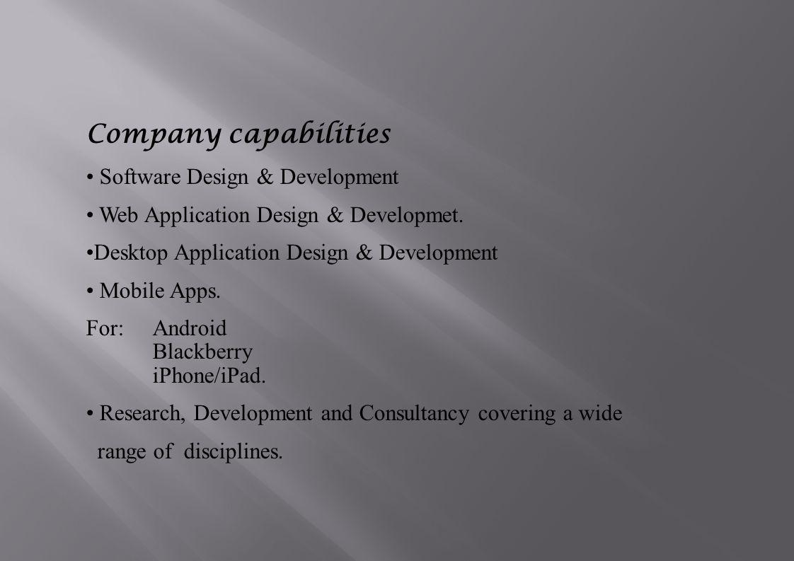 Software Design & Development Web Application Design & Developmet.