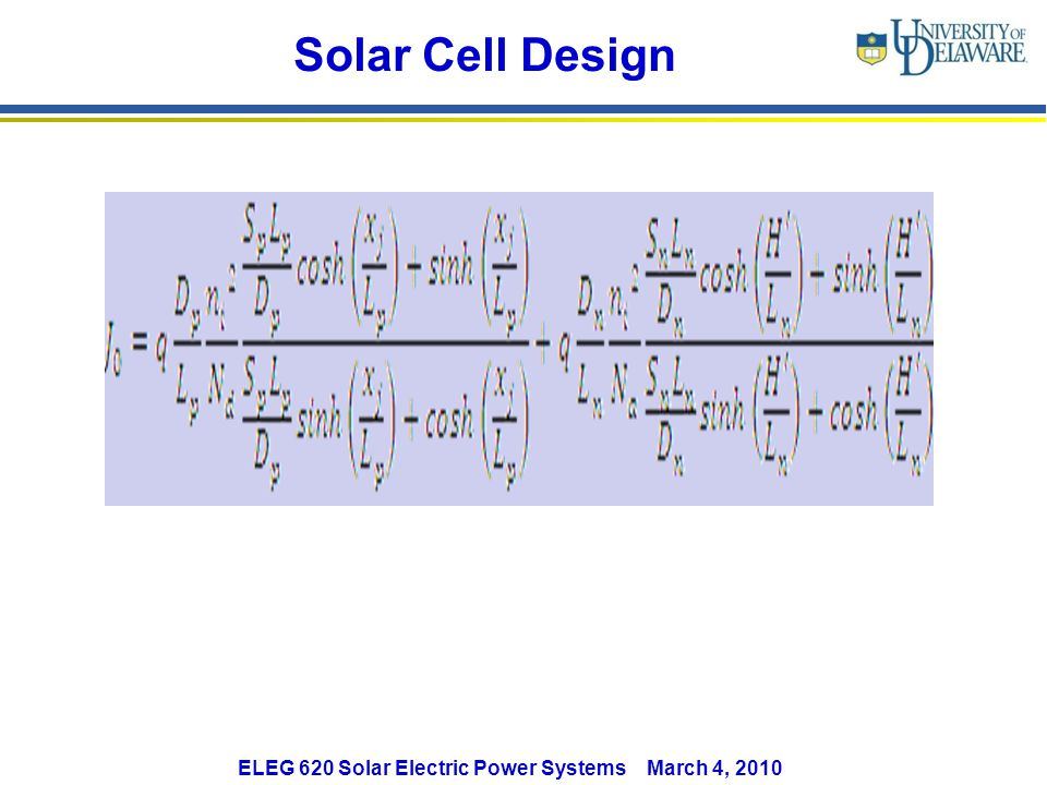 Solar Cell Design
