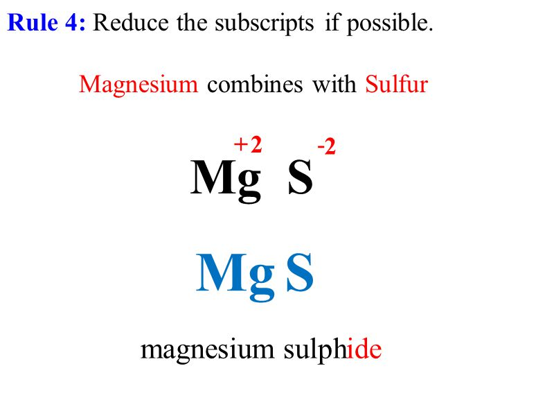 Rule 4: Reduce the subscripts if possible.
