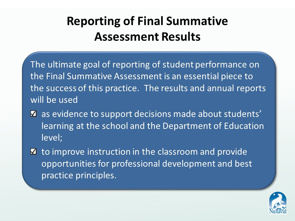 Recording Results from the Final Summative Assessment Upon completion and grading of each student's summative assessment and class mark, teachers are required to record these results for each of their courses in the Maplewood – connectEd system.