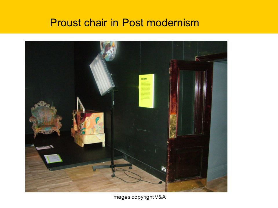 Proust chair in Post modernism images copyright V&A