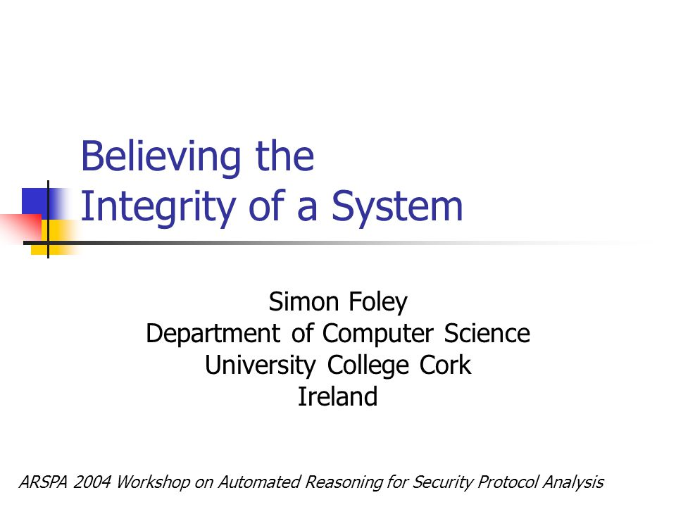 UCC Security Research Distributed Systems Distributed security architectures.