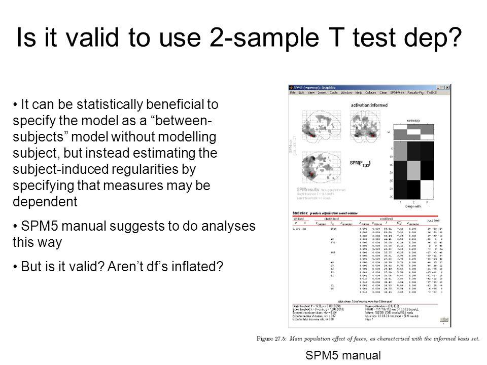 Is it valid to use 2-sample T test dep.