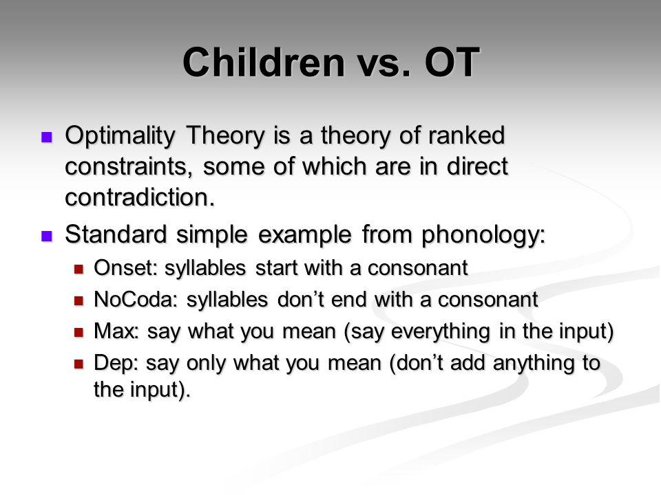 Children vs.