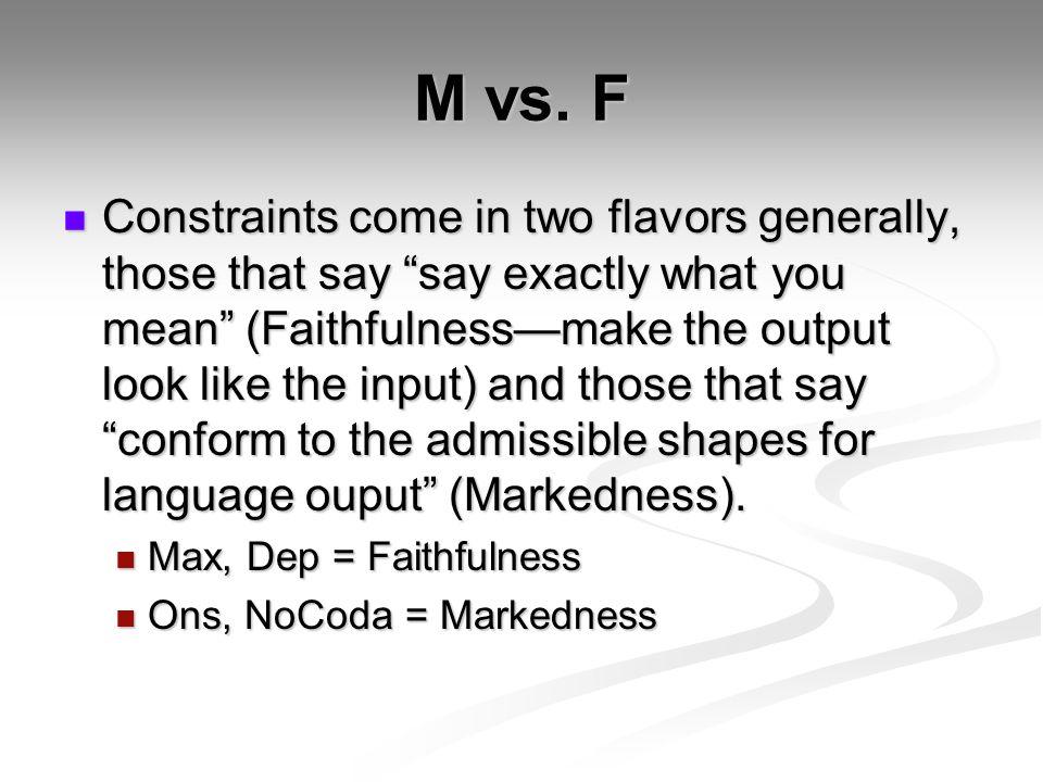 M vs.