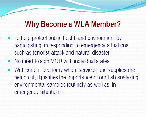Why Become a WLA Member.