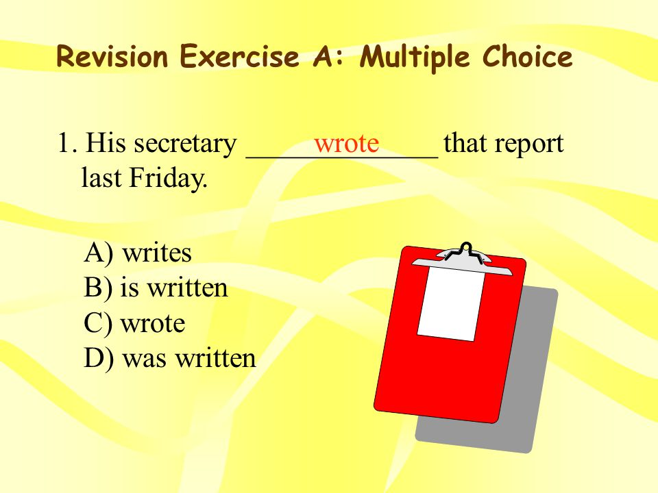 Revision Exercises