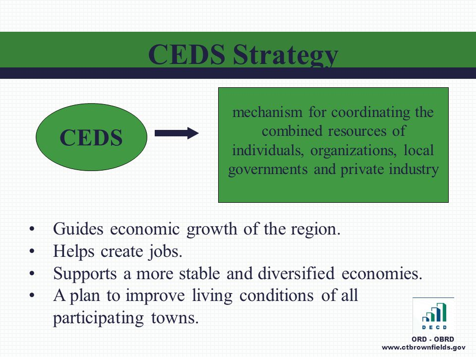 Guides economic growth of the region. Helps create jobs.