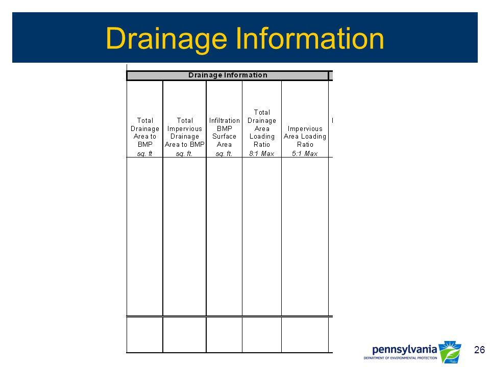 26 Drainage Information