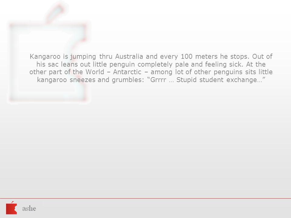 Kangaroo is jumping thru Australia and every 100 meters he stops.