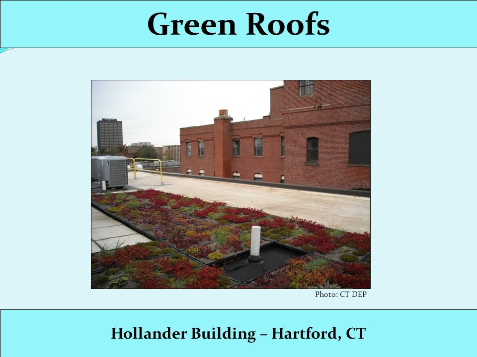 Green Roofs Hollander Building – Hartford, CT Photo: CT DEP