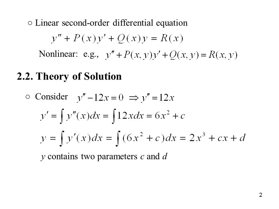 ◎ Find all solutions ○ Definition 2.2: 1.: linearly independent : fundamental set of solutions 2.