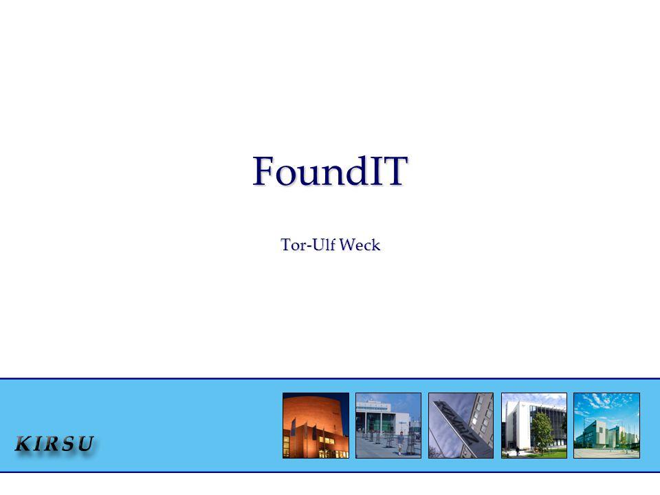 FoundIT Tor-Ulf Weck