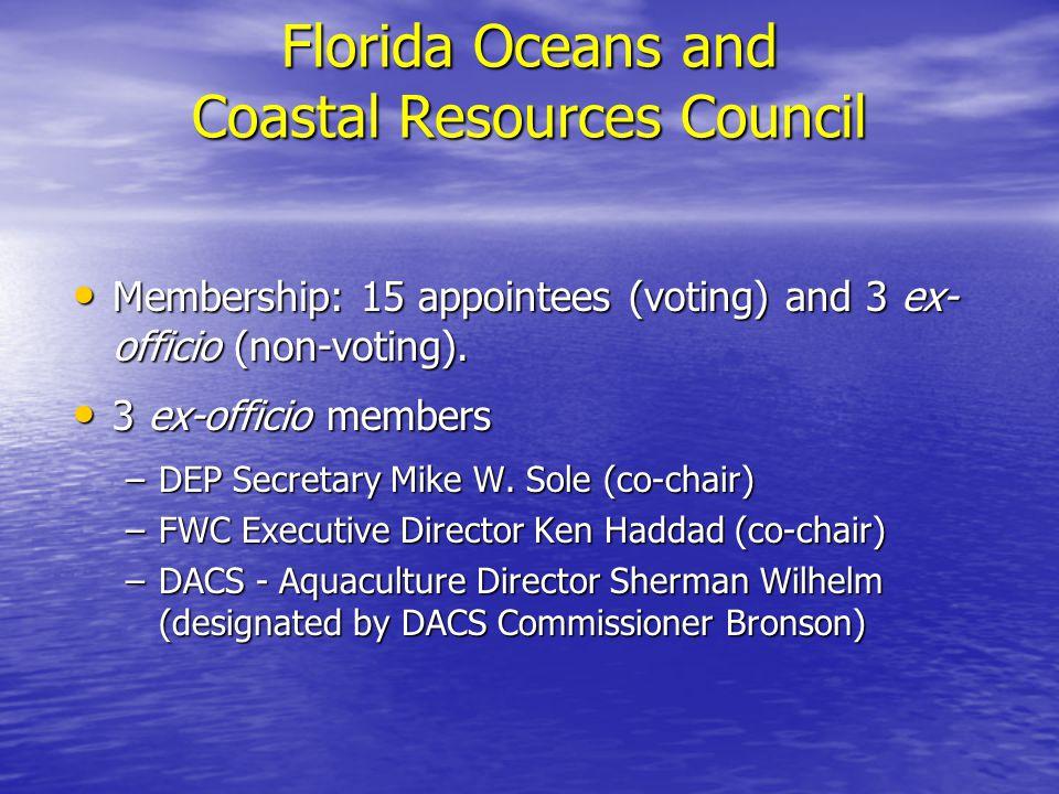 DEP Appointees: Dr.Karl Havens – University of Florida Dr.