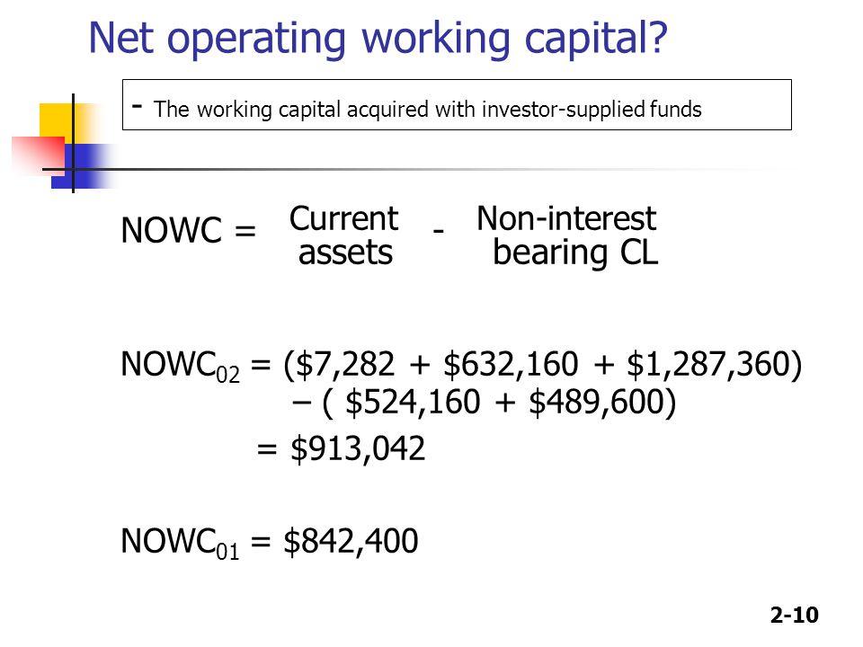 2-10 Net operating working capital.