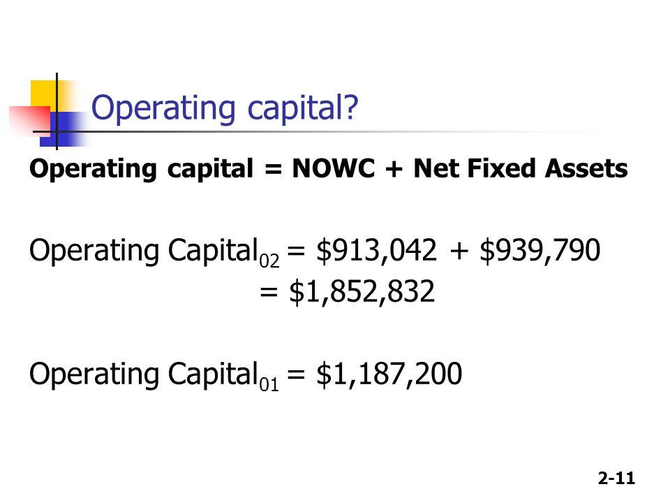 2-11 Operating capital.