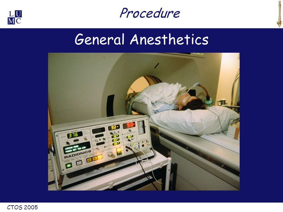 CTOS 2005 Procedure General Anesthetics