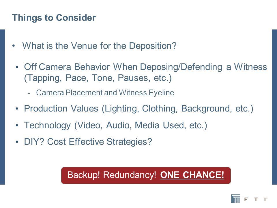 Things to Consider Digital vs.Analog Media Lav or Lapel Lavalier Microphones vs.