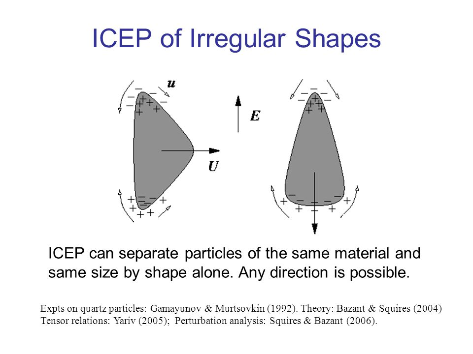 ICEP of Irregular Shapes ICEP can separate particles of the same material and same size by shape alone.