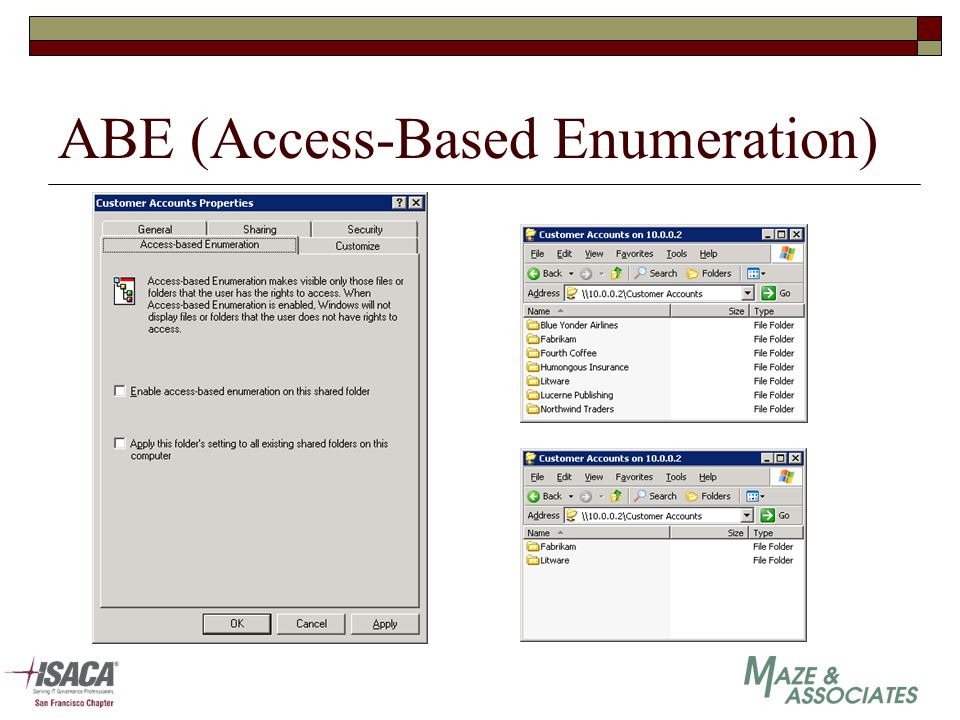 ABE (Access-Based Enumeration)