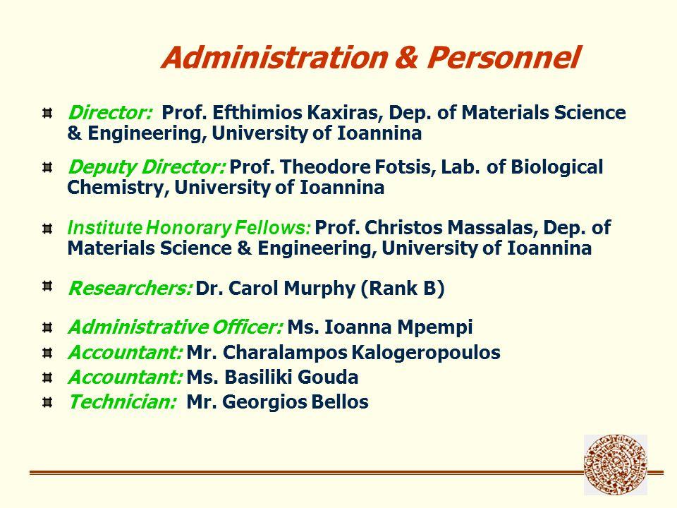 Collaborating Faculty Members Georgatos, Spyros, Prof., Medical School, U.I.