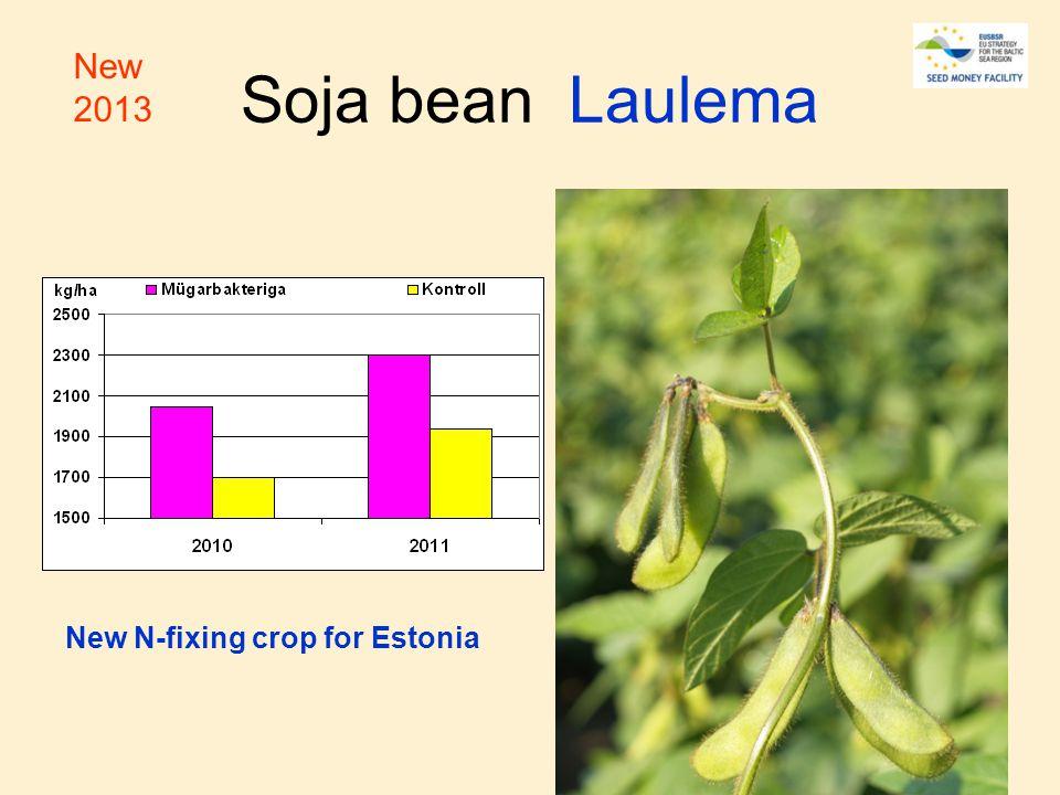 Soja bean Laulema New N-fixing crop for Estonia New 2013