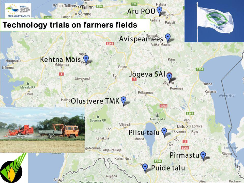 Technology trials on farmers fields
