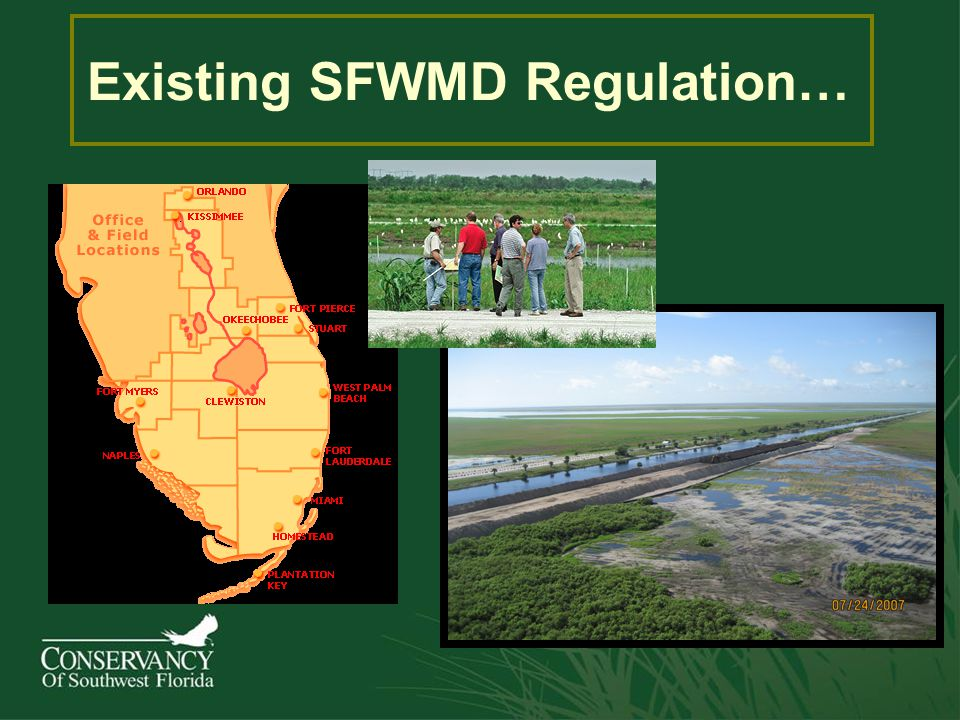Existing SFWMD Regulation…