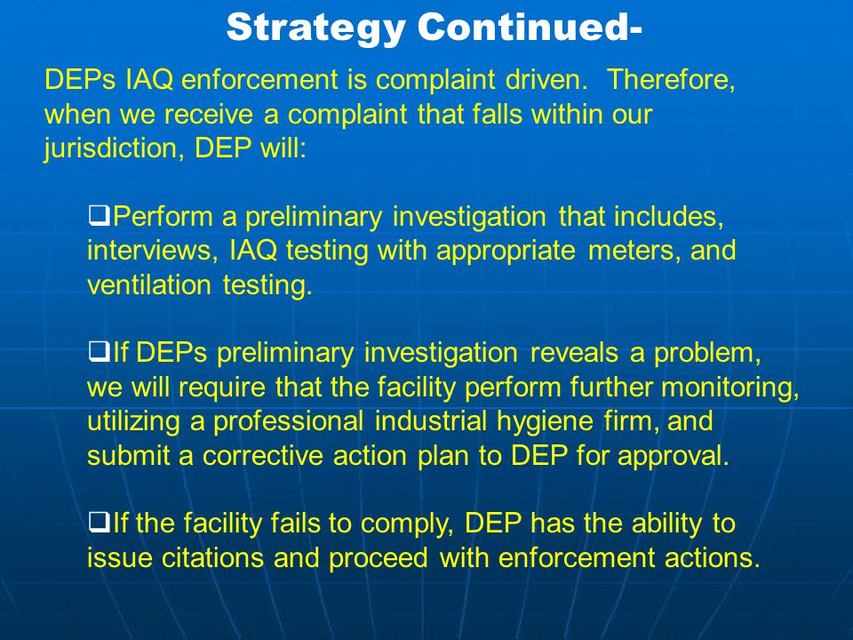 Montgomery County's Indoor Air Quality Strategy … Typical examples Slide 7 of 12