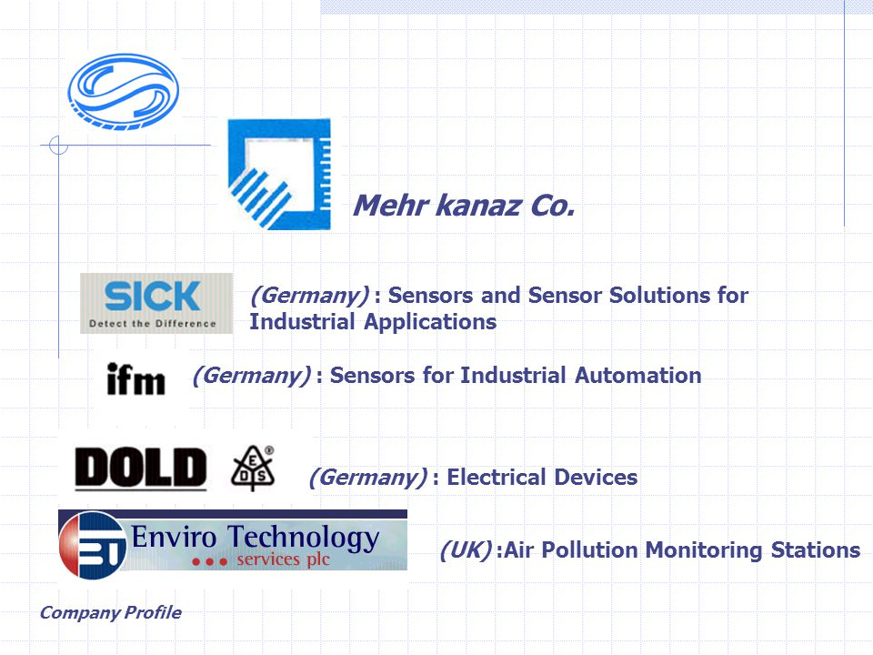 Mehr kanaz Co. (Germany) : Sensors and Sensor Solutions for Industrial Applications (Germany) : Sensors for Industrial Automation (Germany) : Electric
