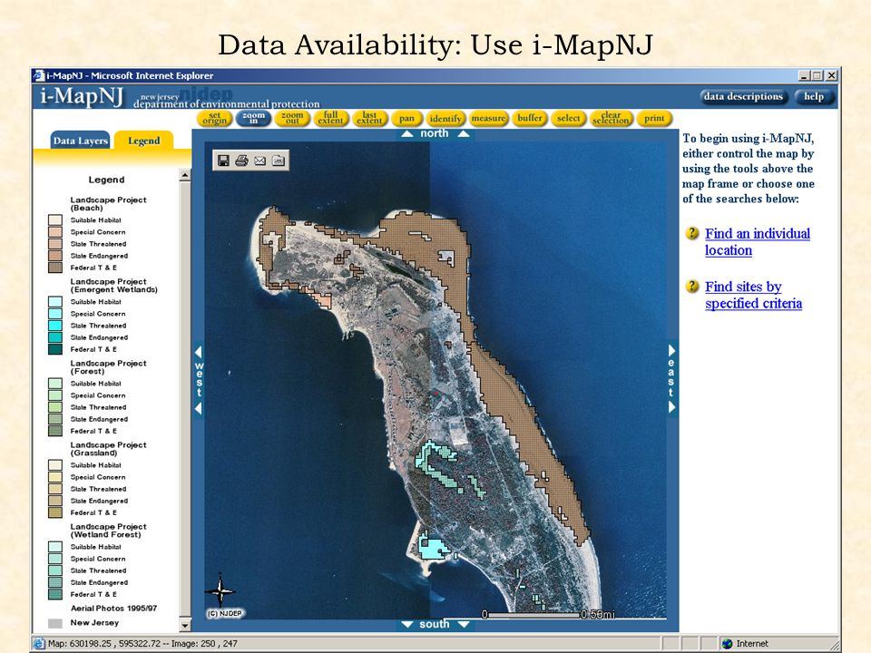 Data Availability: Use i-MapNJ