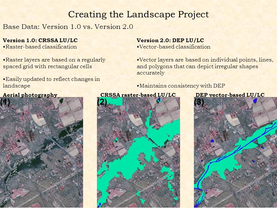 Creating the Landscape Project Base Data: Version 1.0 vs.