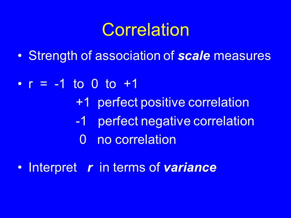Correlation: Goodness of Fit How much is variance reduced by calculating from regression line.