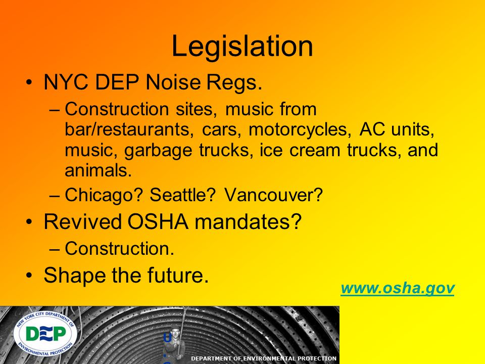 Legislation NYC DEP Noise Regs.