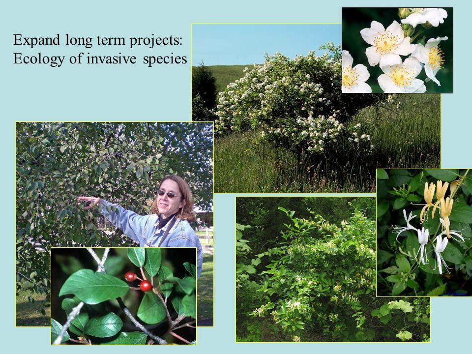 Expand long term projects: Forensic entomology Ecotoxicology, others Partners: Sam Houston State, Western Carolina, Ohio State (possibly California University of Pennsylvania)