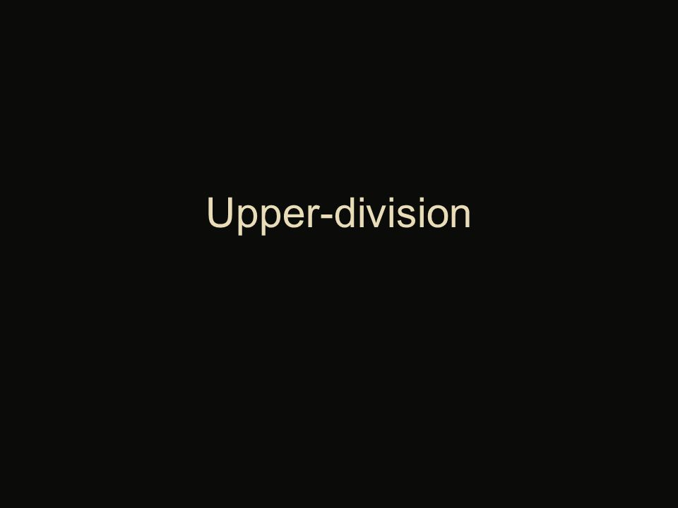 Why transform upper division.