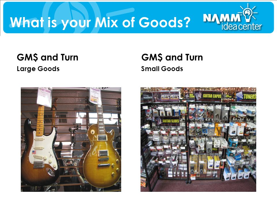 What is your Mix of Goods? GM$ and Turn Large Goods GM$ and Turn Small Goods
