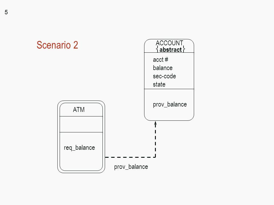 5 ATM req_balance ACCOUNT  abstract  acct # balance sec-code state prov_balance Scenario 2 prov_balance