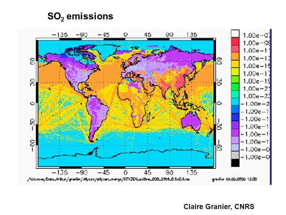 Claire Granier, CNRS SO 2 emissions